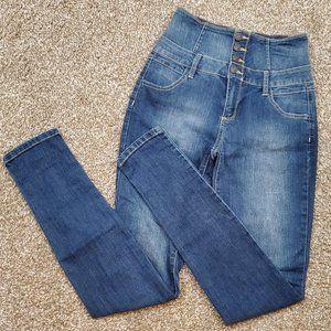 Cello High Rise Dark Wash Skinny Jeans